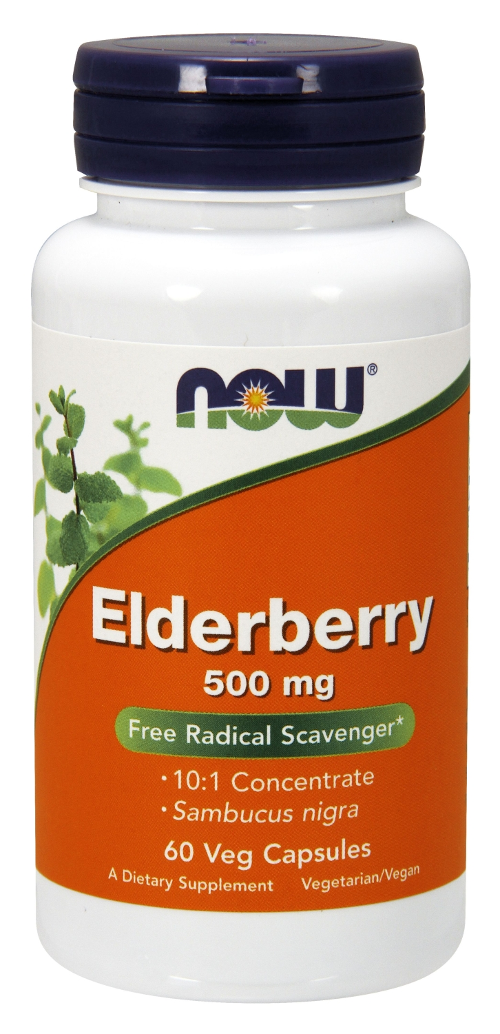Elderberry Extract 500 mg 60 Vcaps by NOW