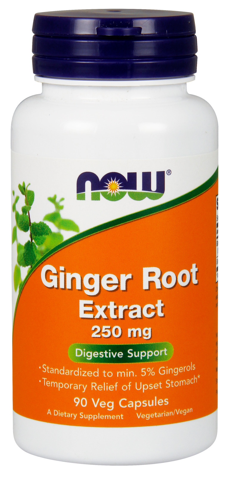 Ginger Root Extract 250 mg 90 Vcaps by NOW