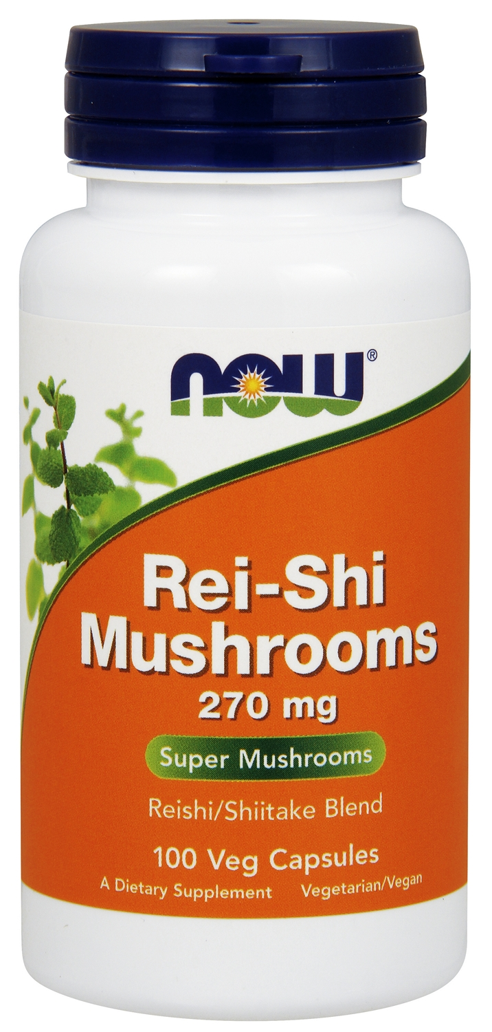 Rei-Shi Mushrooms 270 mg 100 caps by NOW