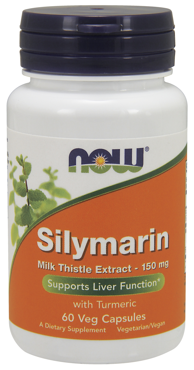 Silymarin Milk Thistle Extract 150 mg 60 Vcaps by NOW Foods