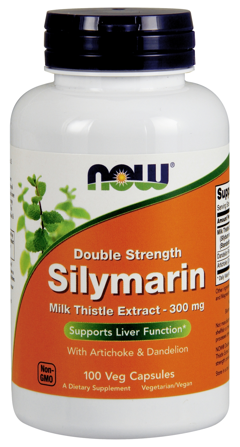 Silymarin Milk Thistle Extract 2X-300 mg 100 Vcaps by NOW