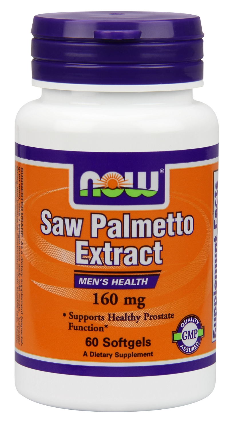 Saw Palmetto Extract 160 mg 60 sgels by NOW Foods