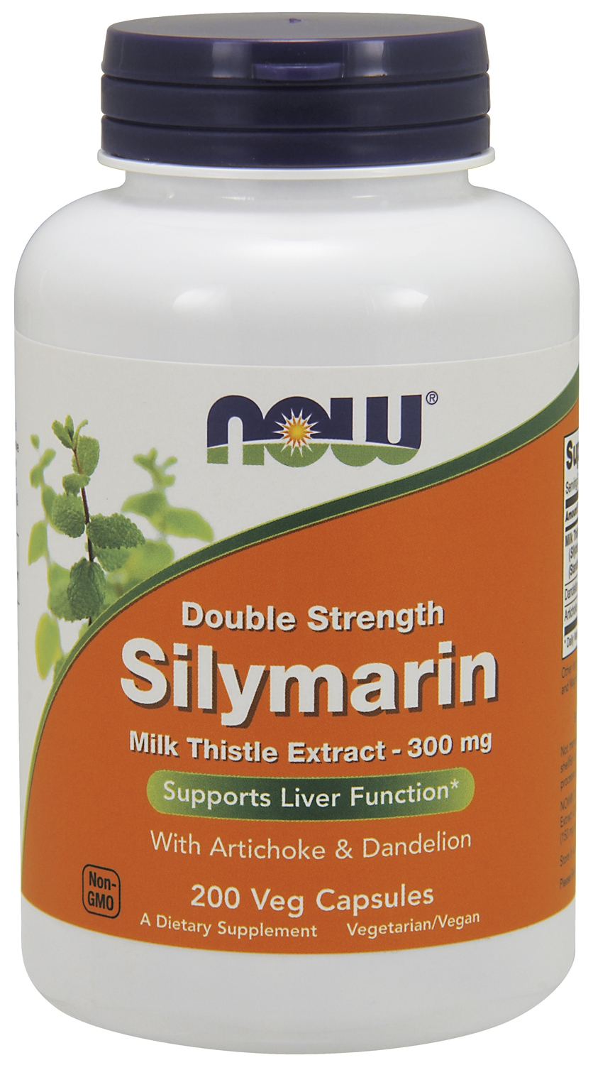 Silymarin Milk Thistle Extract 2X-300 mg 200 Vcaps by NOW
