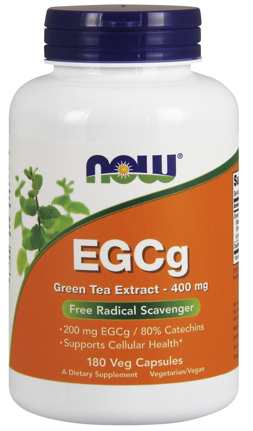 EGCg Green Tea Extract 400 mg 180 Vcaps by NOW