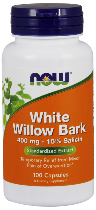 White Willow Bark 400 mg 100 caps by NOW