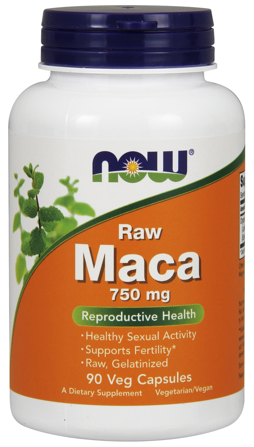 Raw Maca 750 mg 90 Vcaps by NOW