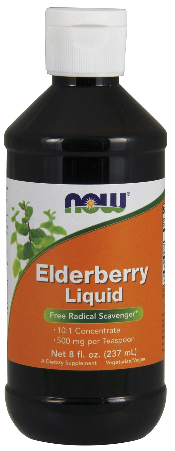Elderberry Liquid 8 fl oz by NOW