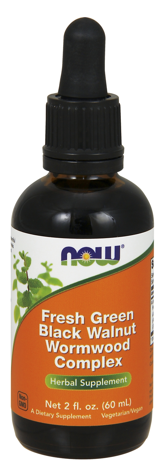 Fresh Green Black Walnut Wormwood Complex 2 fl oz (60 ml) by NOW
