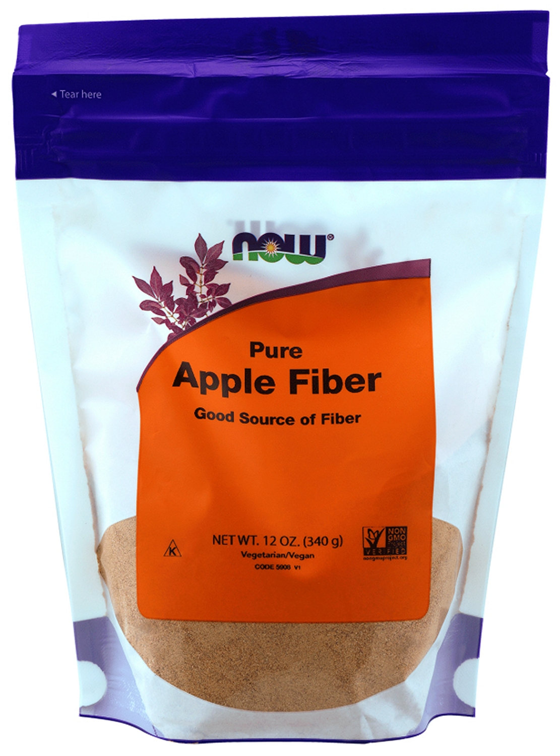 Apple Fiber with Apple Pectin 12 oz (340 g) by NOW
