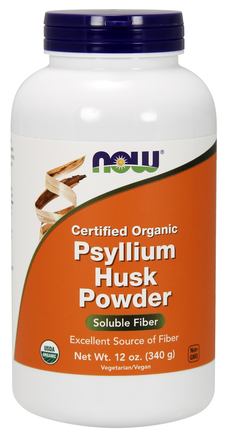 Psyllium Husk Powder 100% Certified Organic 12 oz (340 g) by NOW