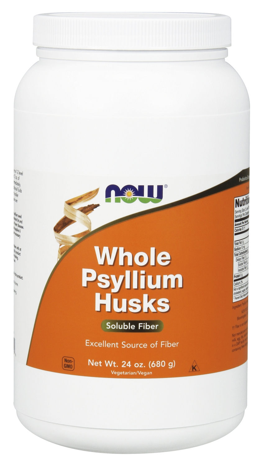 Whole Psyllium Husks 24 oz (680 g) by NOW