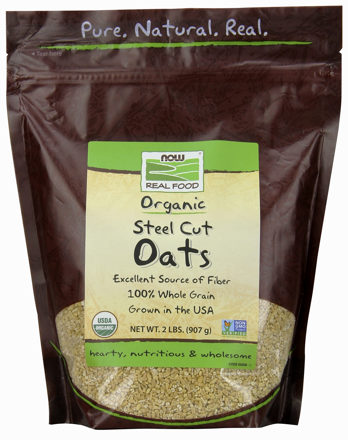 Steel Cut Oats 2 lbs (907 g) by NOW