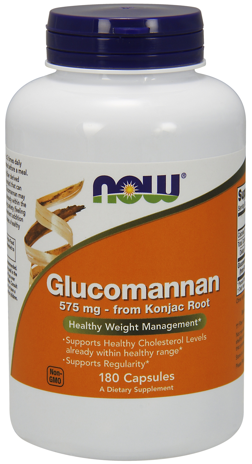 Glucomannan 575 mg 180 caps by NOW