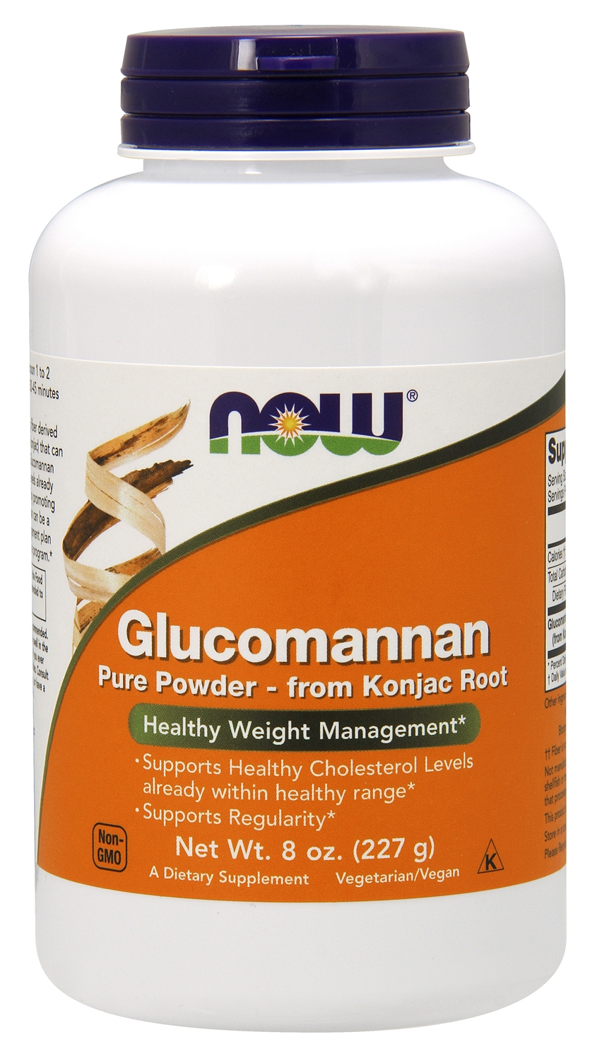 Glucomannan 100% Pure Powder from Konjac Root 8 oz (227 g) by NOW