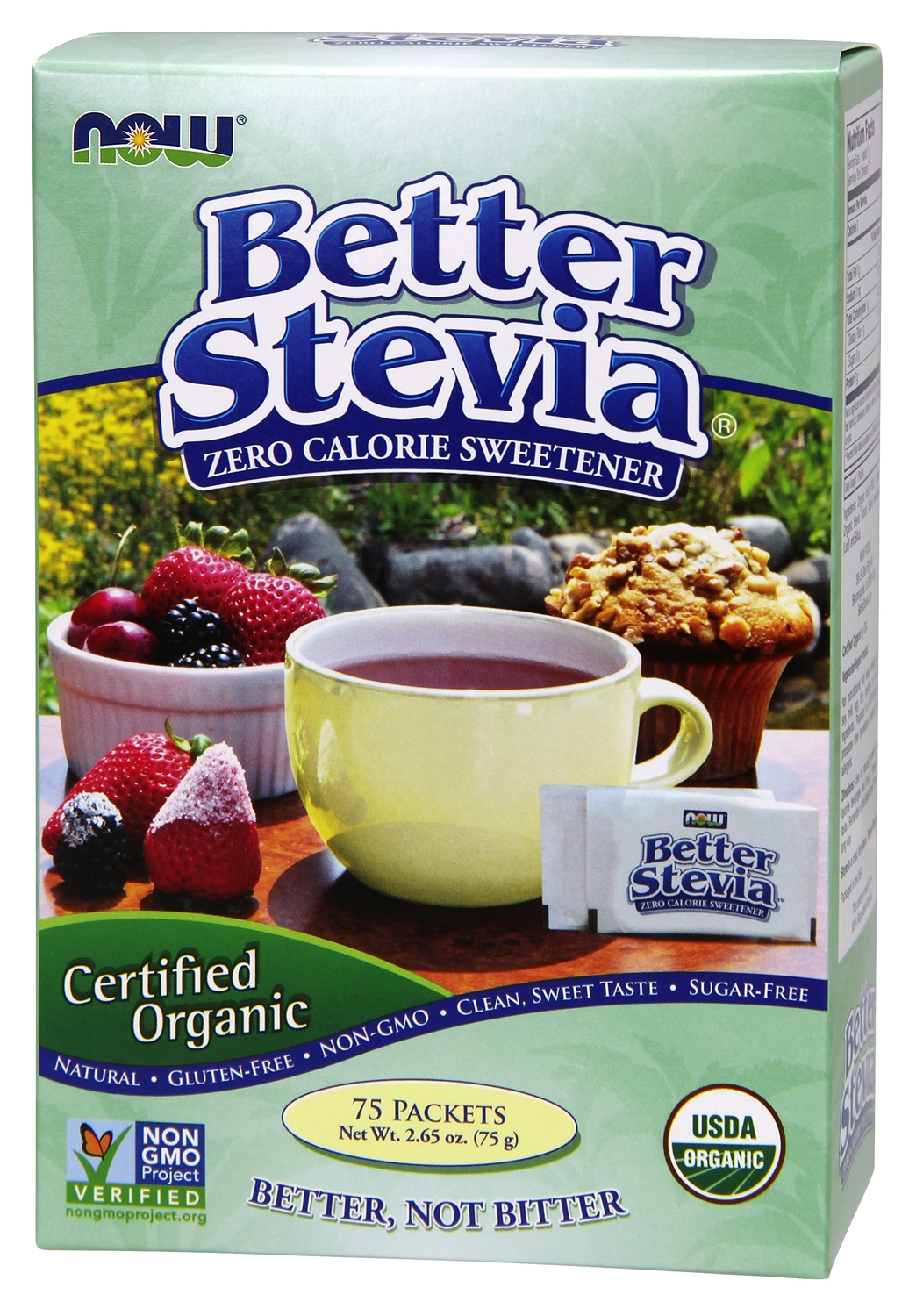 Better Stevia Certified Organic 75 Packets by NOW