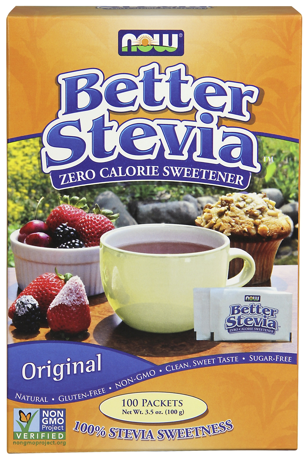 Better Stevia 100 Packets by NOW