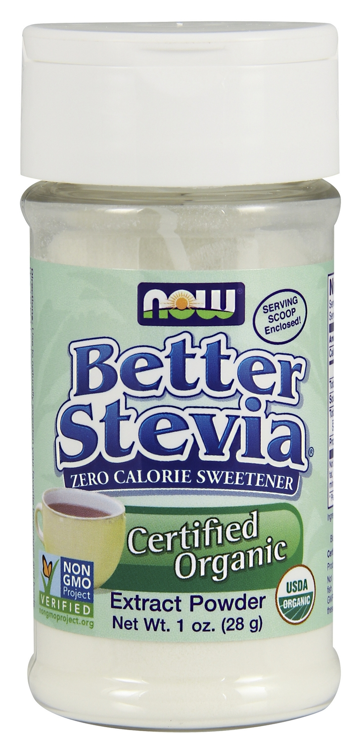 Better Stevia Certified Organic Extract Powder 1 oz (28 g) by NOW