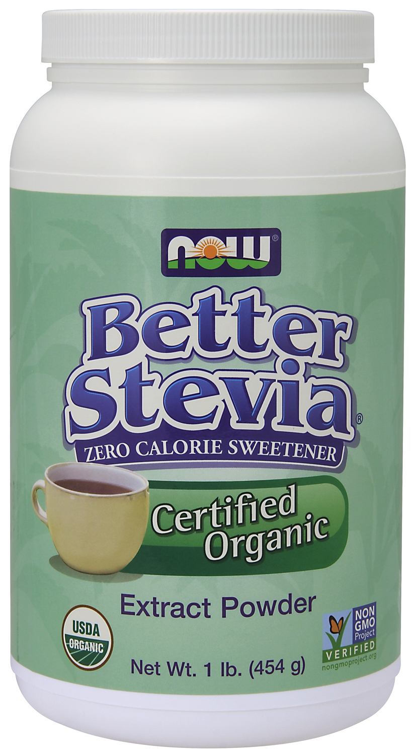 Better Stevia Certified Organic 1 lb (454 g) by NOW