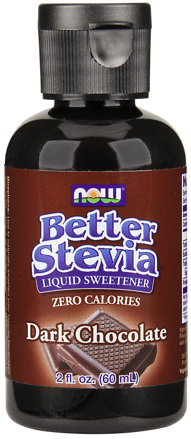 Better Stevia Dark Chocolate 2 fl oz (60 ml) by NOW