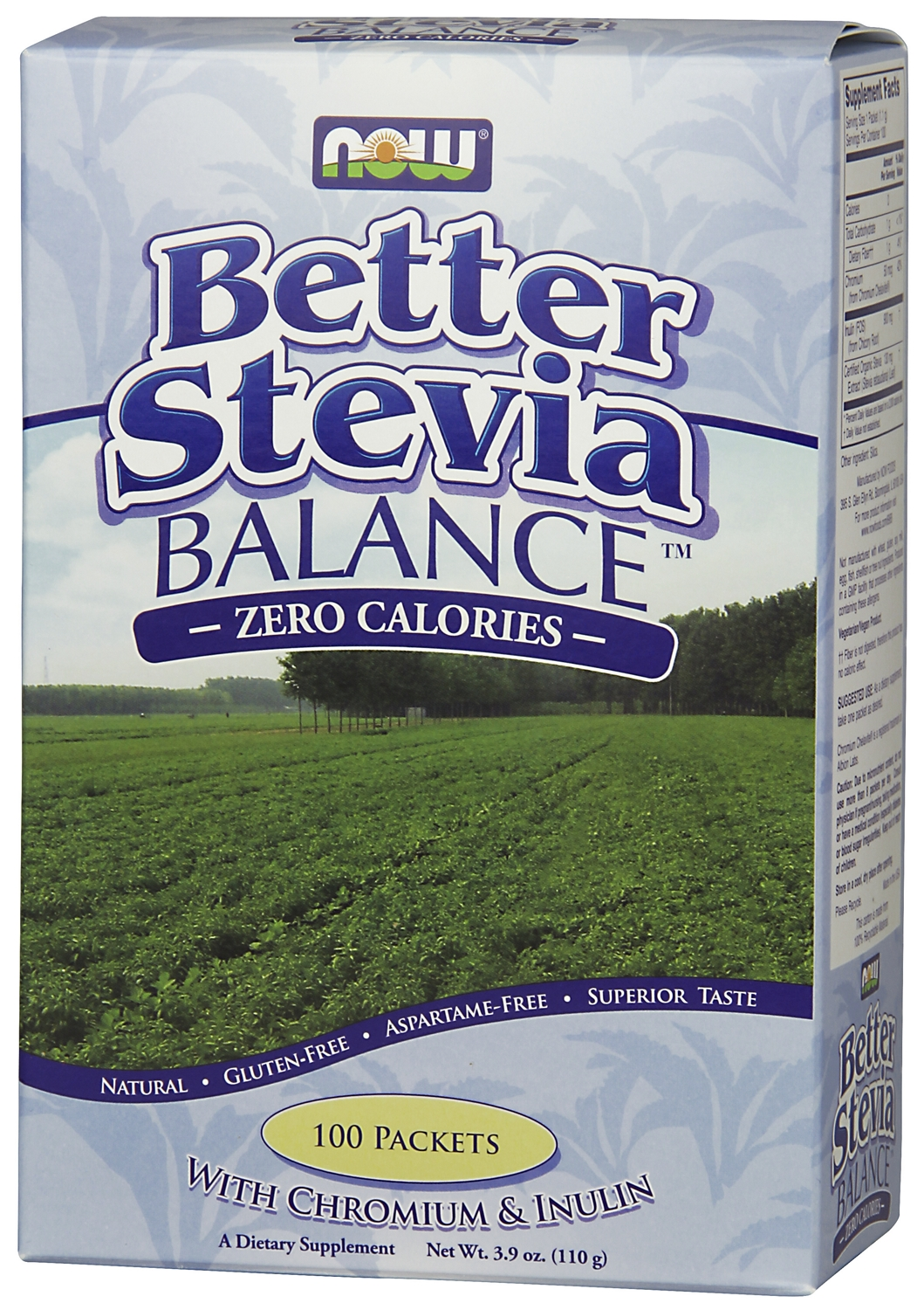 Better Stevia Balance with Inulin & Chromium 100 Packets by NOW