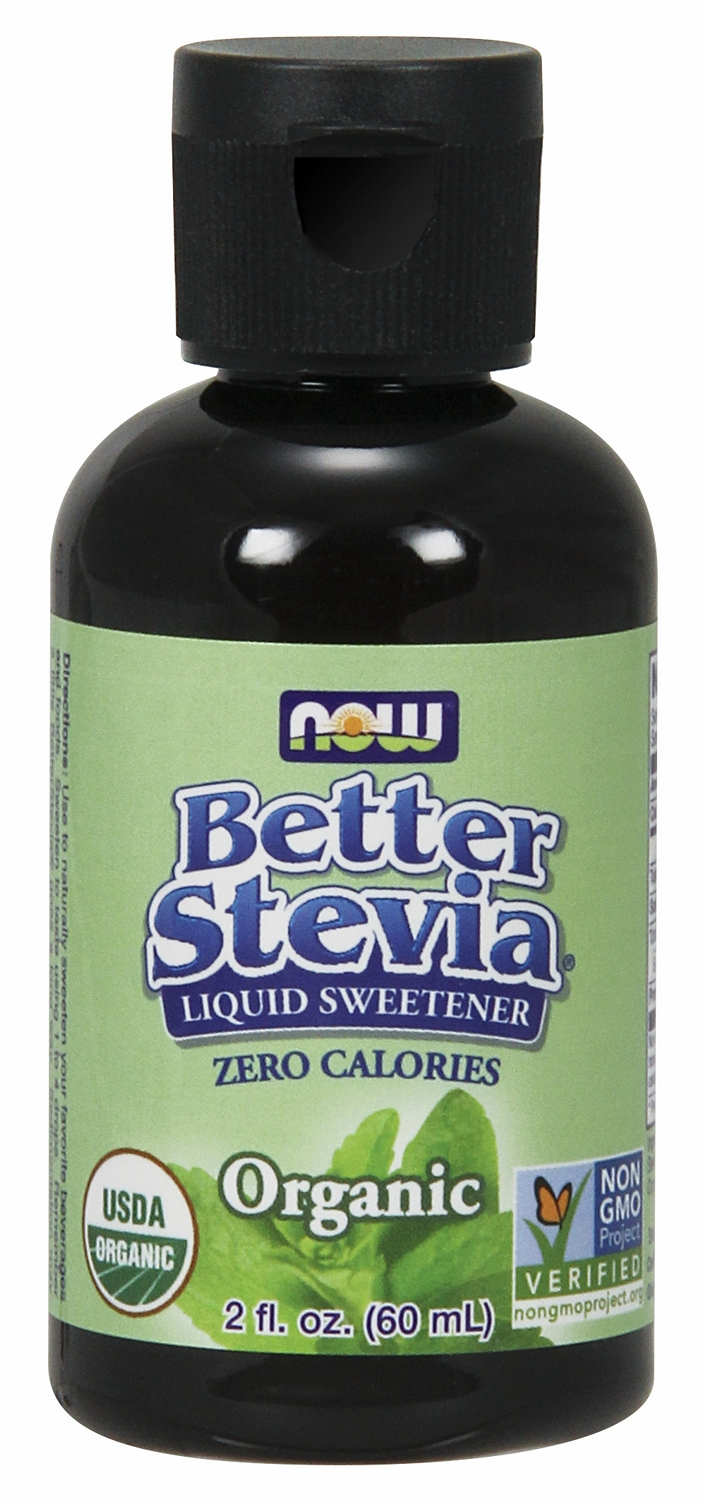 Better Stevia Certified Organic Liquid Extract 2 fl oz (60 ml) by NOW