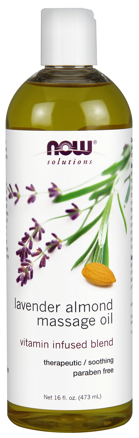 Lavender Almond Massage Oil 16 fl oz (473 ml) by NOW