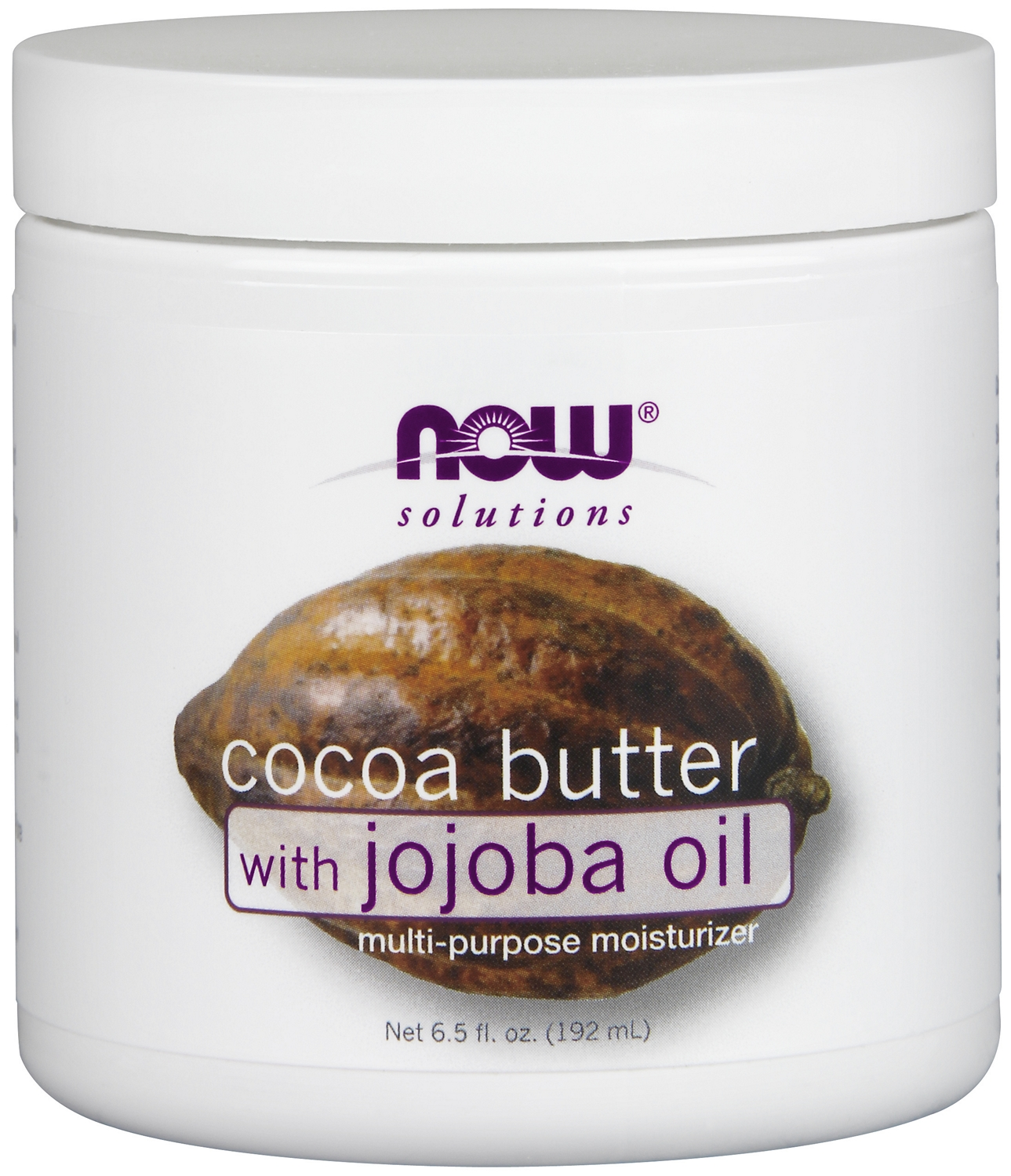 Cocoa Butter with Jojoba Oil 6.5 fl oz (192 ml) by NOW