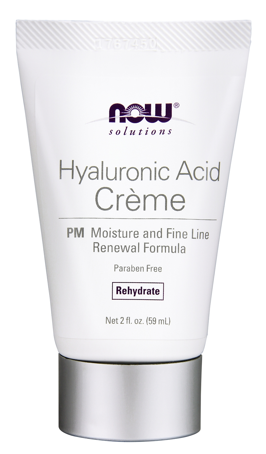 Hyaluronic Acid Creme PM Moisture Renew Formula 2 fl oz (59 ml) by NOW