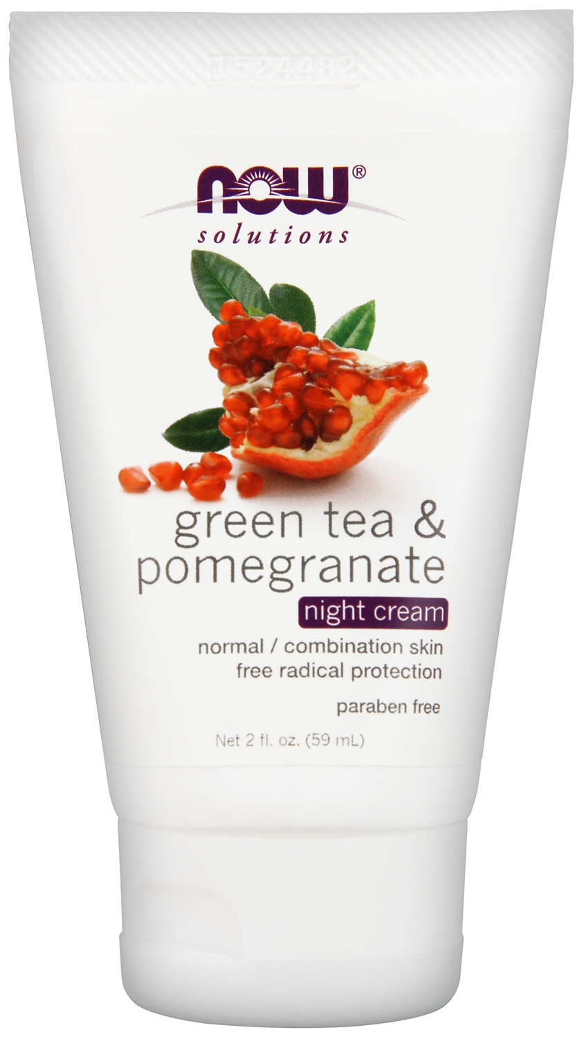 Green Tea & Pomegranate Night Cream 2 fl oz (60 ml) by NOW
