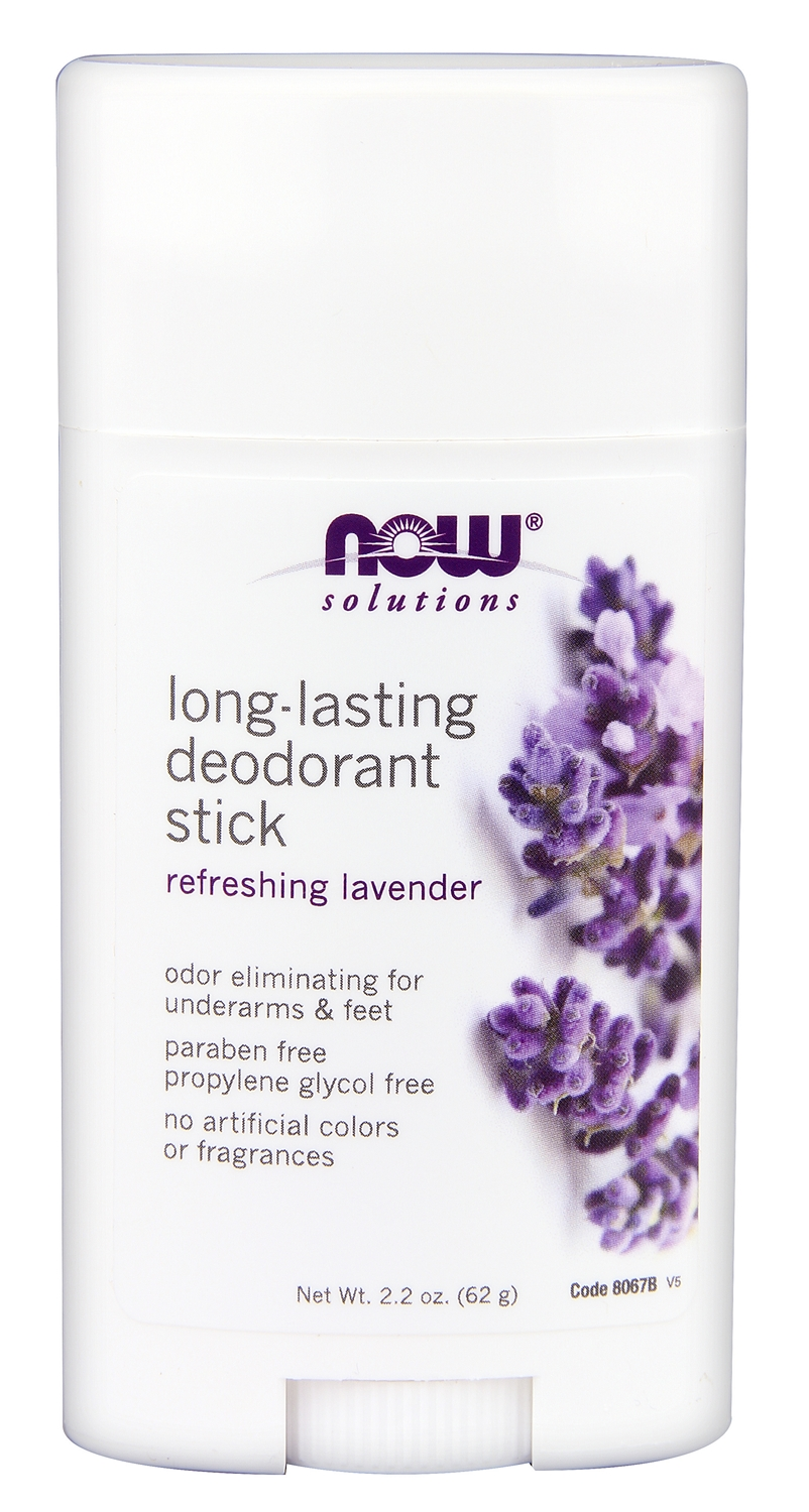 Long Lasting Deodorant Stick Natural Lavender 2.2 oz. (62 g) by NOW