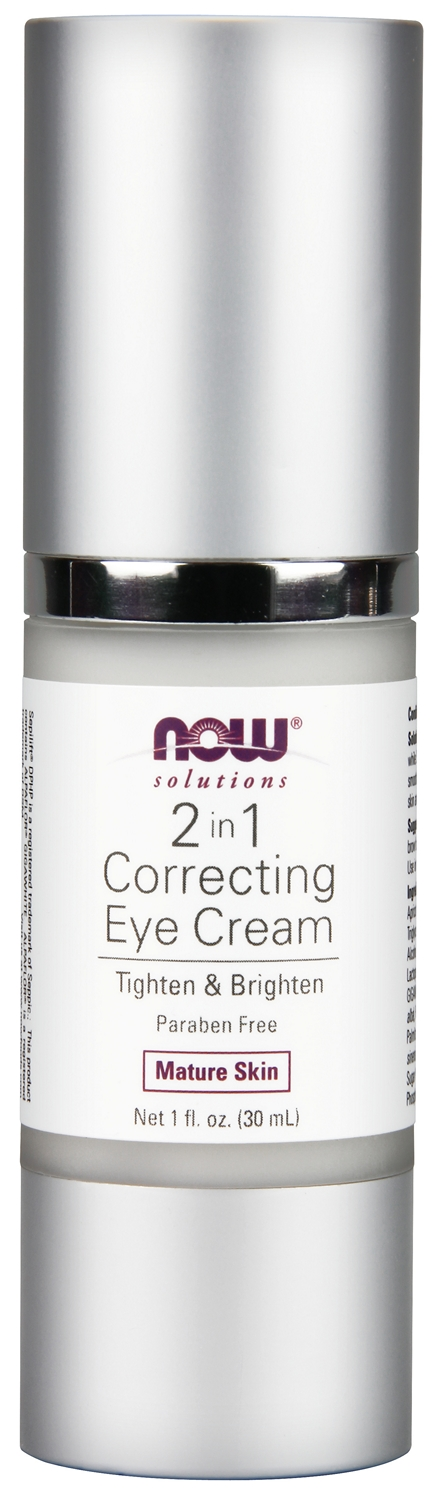 2 in 1 Correcting Eye Cream 1 fl oz (30 ml) by NOW Foods