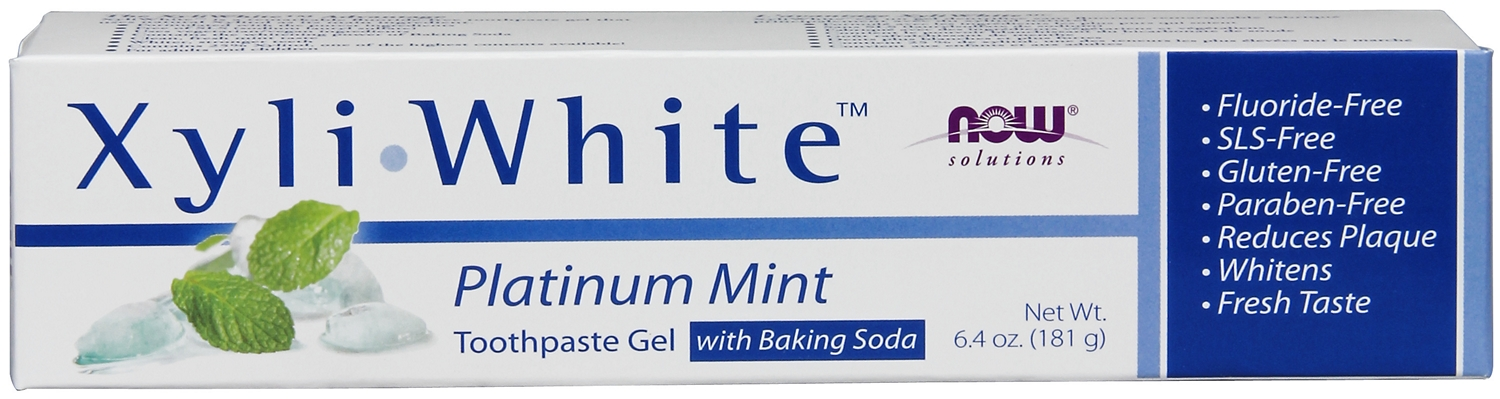 XyliWhite Platinum Mint Toothpaste Gel with Baking Soda 6.4 oz (181 g) by NOW