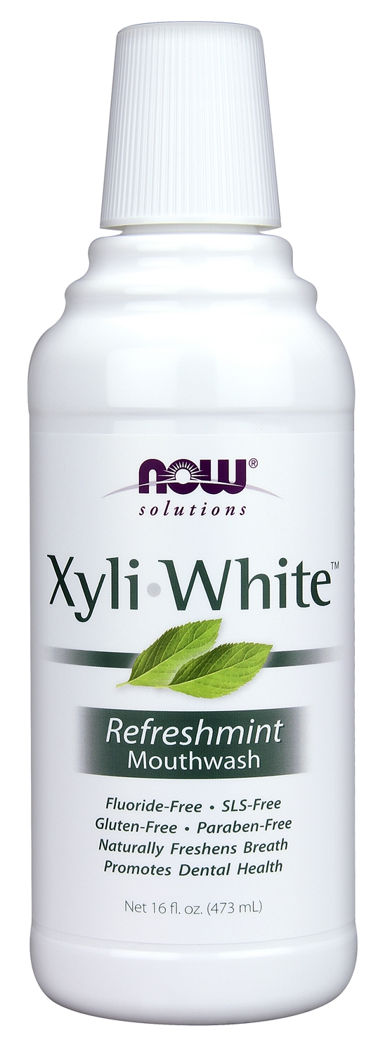 XyliWhite Refreshmint Mouthwash 16 fl oz (473 ml) by NOW