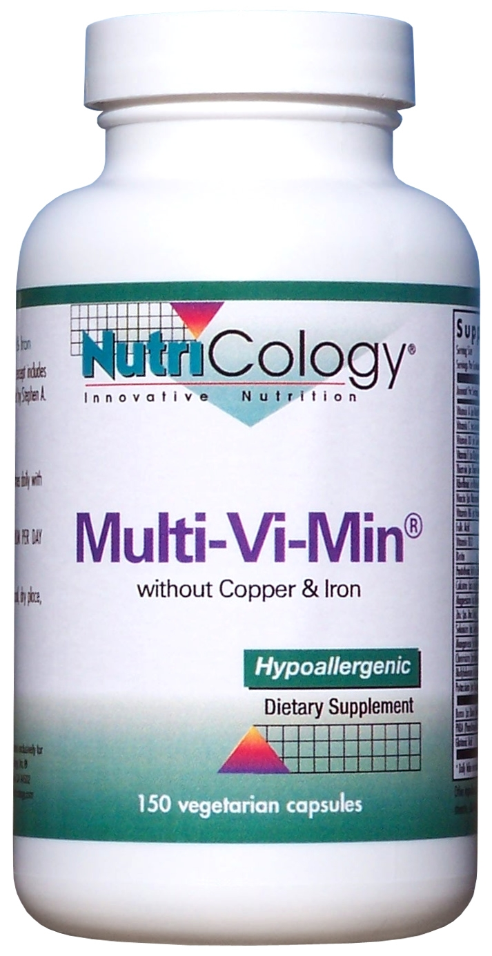 Multi-Vi-Min without Copper & Iron 150 Vegetarian Caps by Nutricology