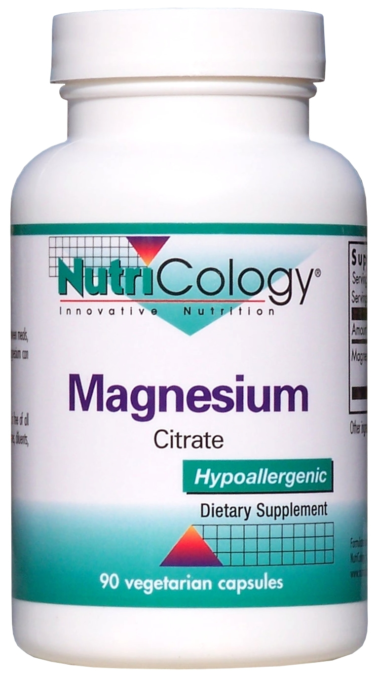 Magnesium Citrate 90 Vegetarian Caps by Nutricology