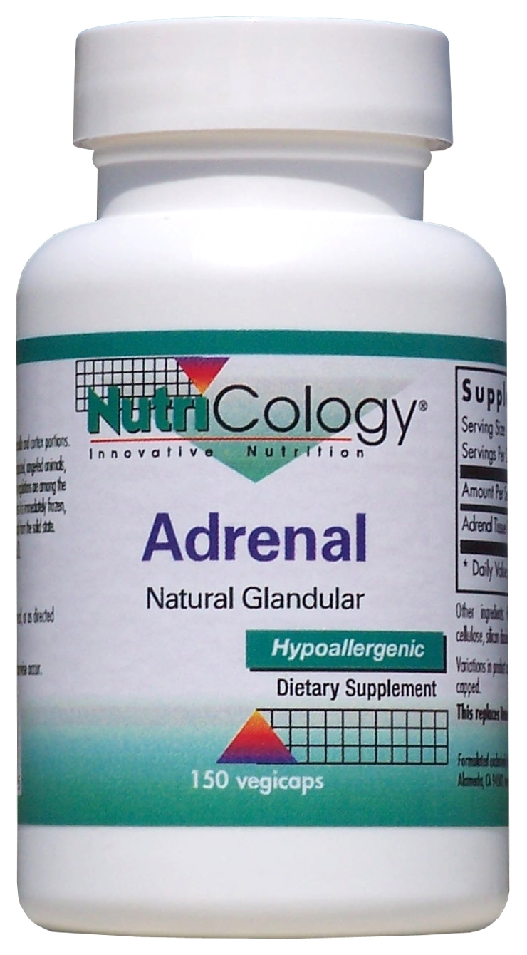 Adrenal Natural Glandular 150 Vegicaps by Nutricology