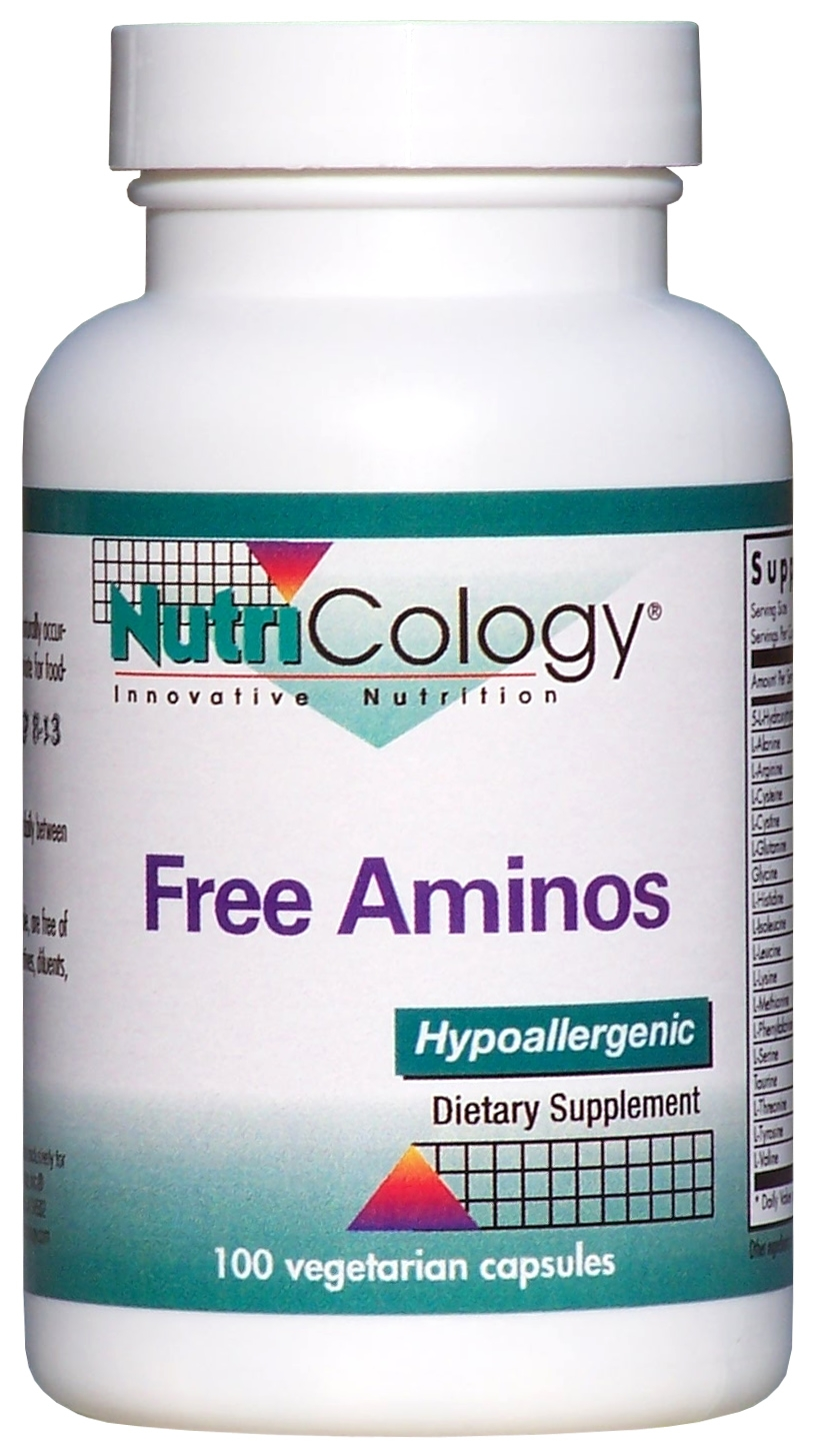 Free Aminos 100 Vegetarian Caps by Nutricology