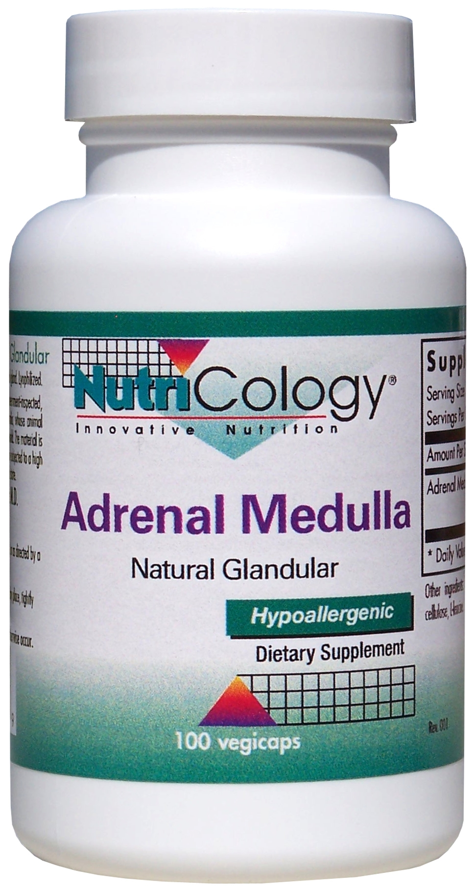 Adrenal Medulla Natural Glandular 100 Vegicaps by Nutricology