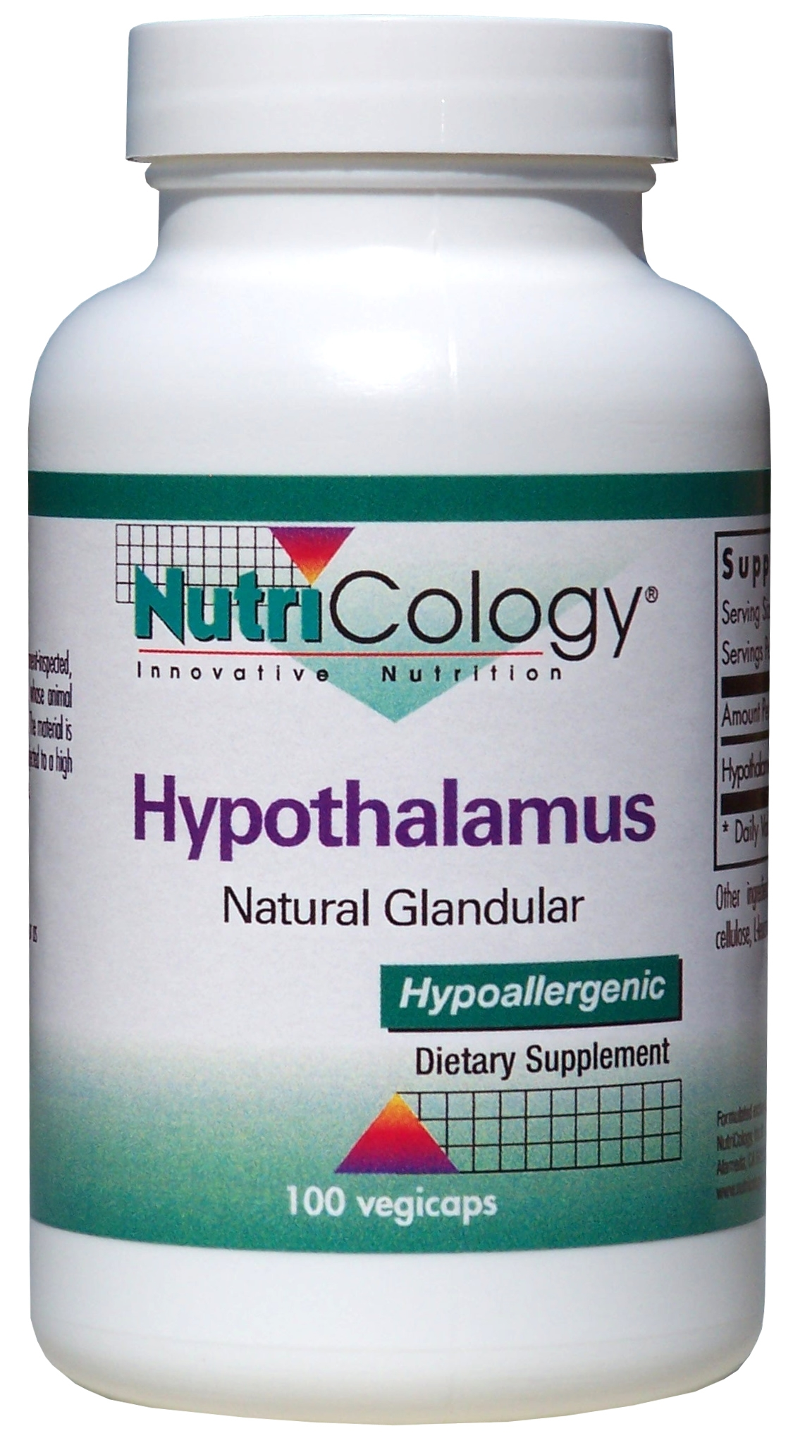 Hypothalamus Natural Glandular 100 Vegicaps by Nutricology