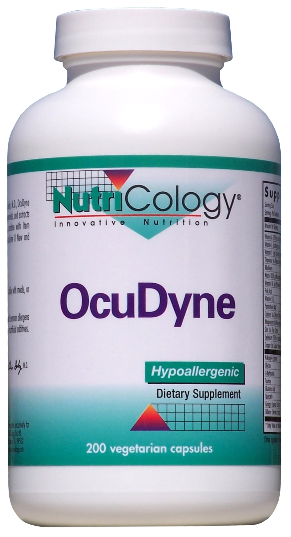 OcuDyne 200 Vegetarian Caps by Nutricology