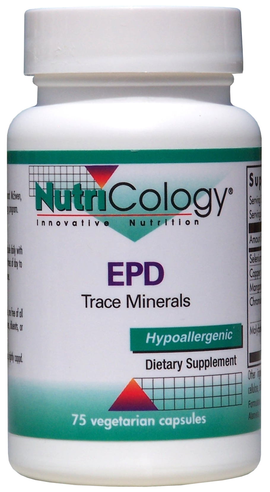 EPD Trace Minerals 75 Vegetarian Caps by Nutricology