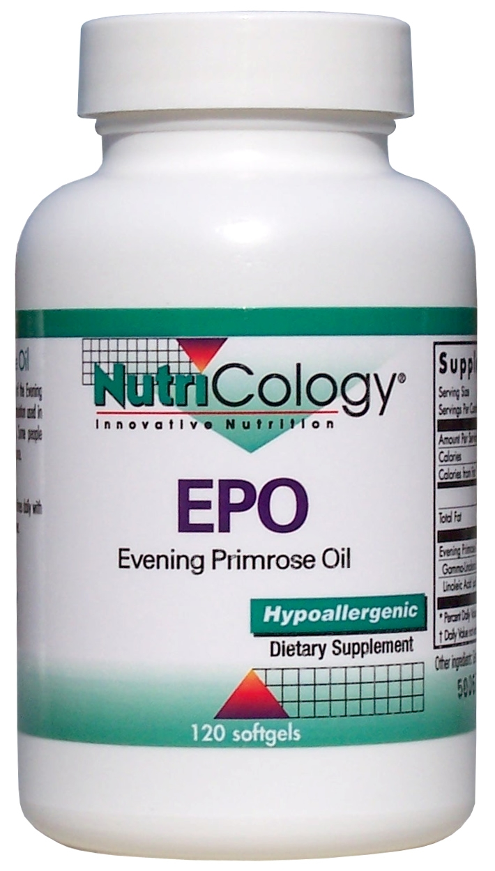 EPO Evening Primrose Oil 120 sgels by Nutricology