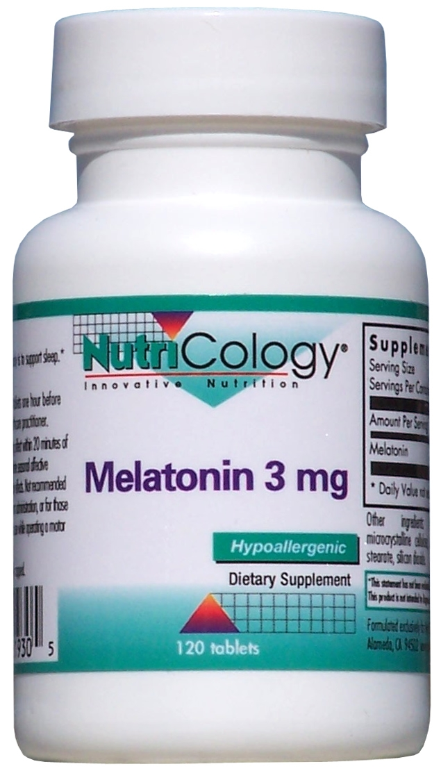 Melatonin 3 mg 120 tabs by Nutricology