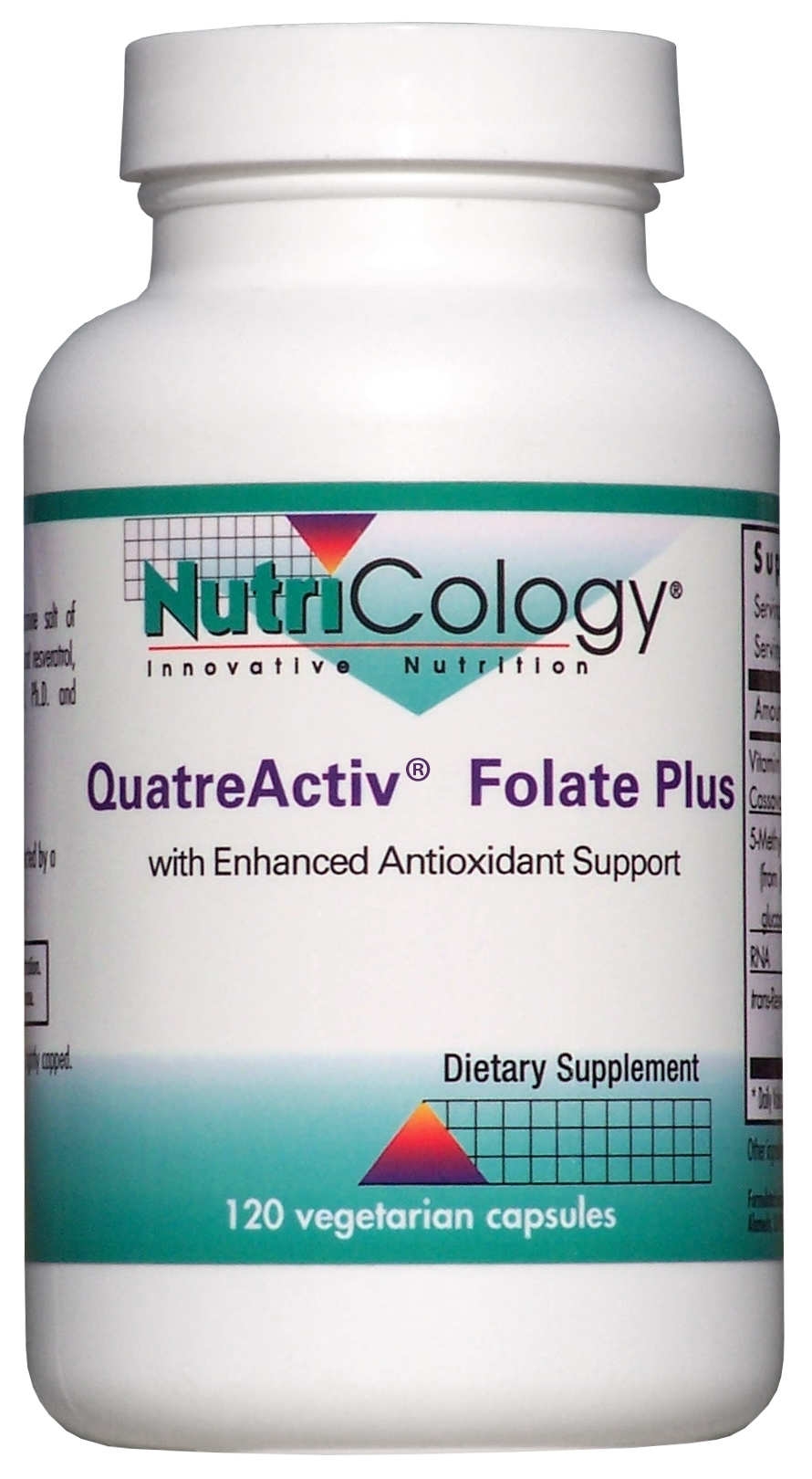 QuatreActiv Folate Plus 120 Vegetarian Caps by Nutricology