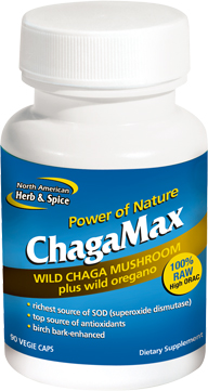 ChagaMax 90 vege caps by North American Herb & Spice