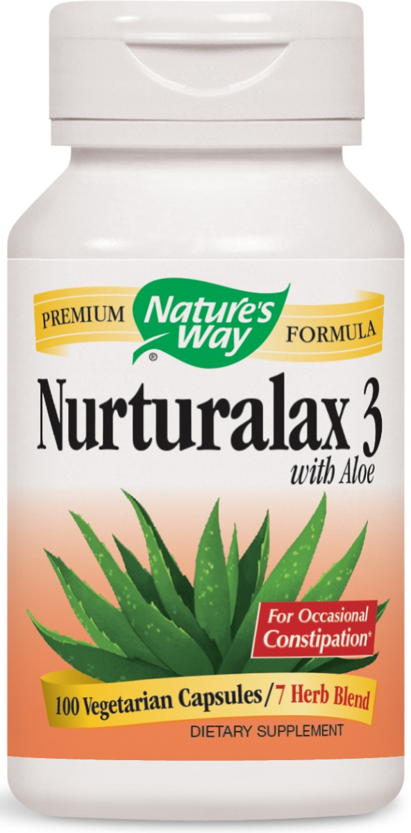 Naturalax 3 with Aloe Vera 430 mg 100 Vcaps by Nature's Way