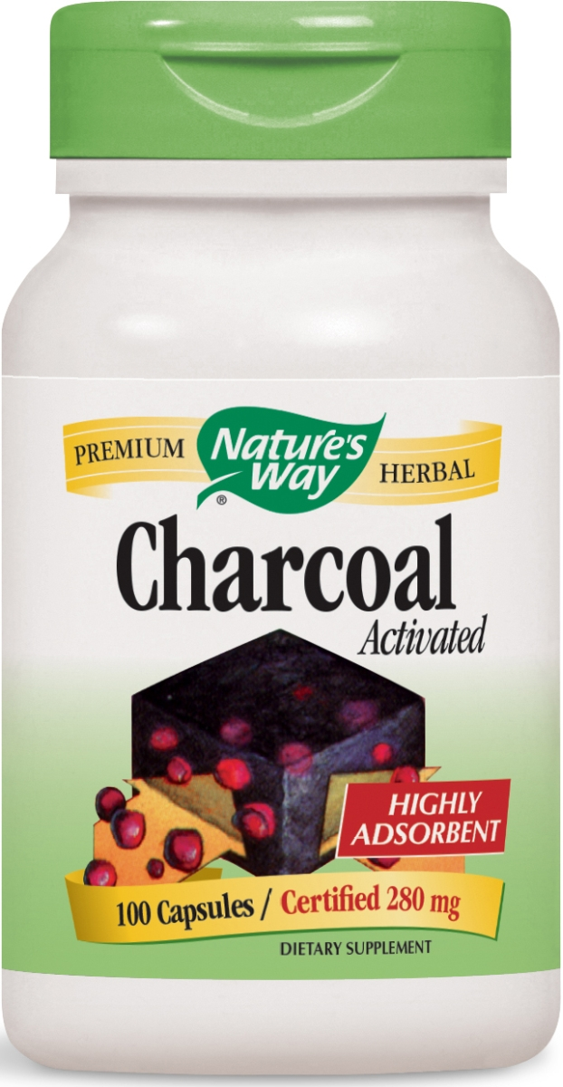 Charcoal Activated 280 mg 100 caps by Nature's Way