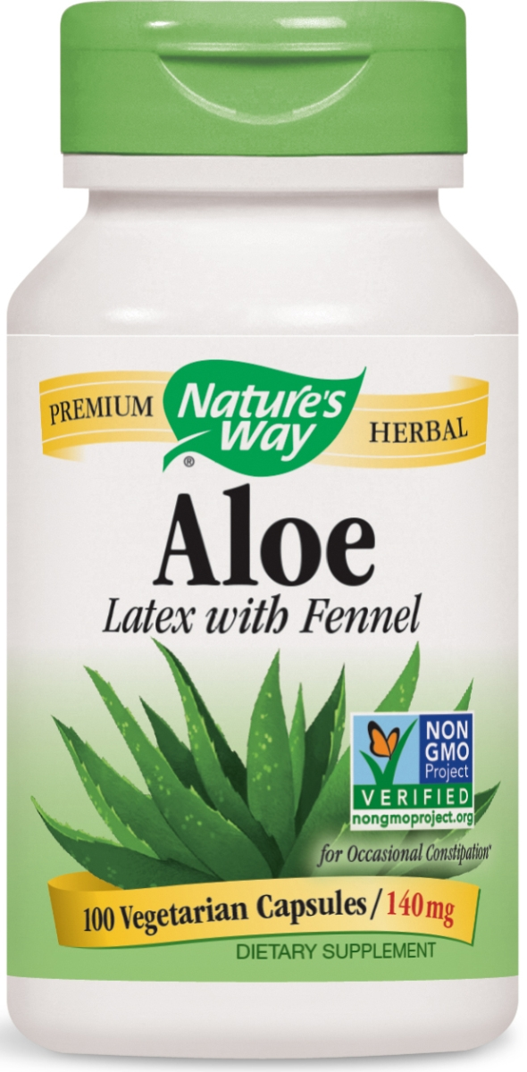 Aloe Latex & Leaf 550 mg 100 Vcaps by Nature's Way