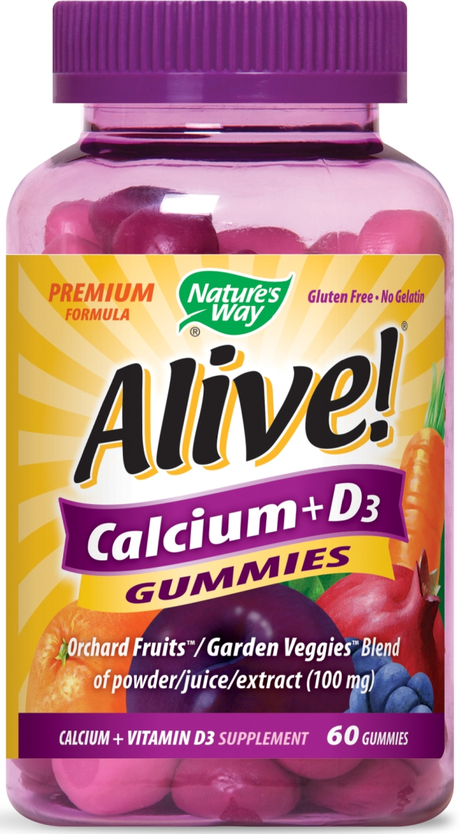 Alive! Calcium Gummies 60 Gummies by Nature's Way
