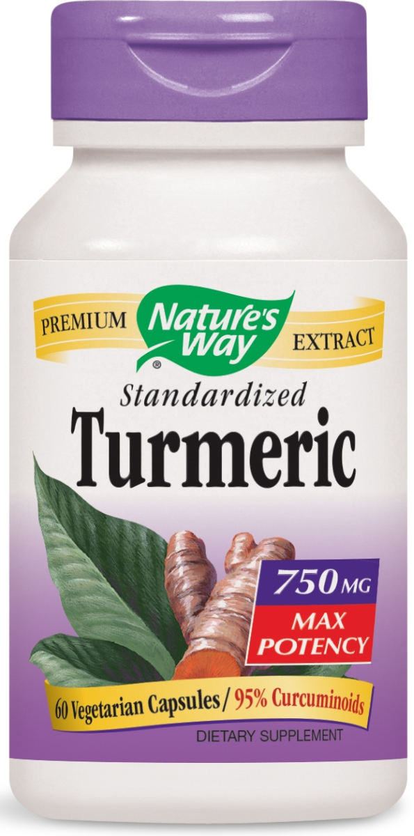 Turmeric Standardized Max Potency 750 mg 60 Vcaps by Nature's Way
